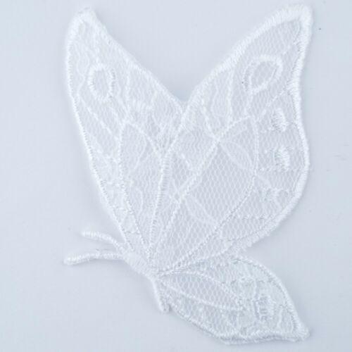 Negro Y Blanco Encaje Organza Motif Net Disfraz de hierro de reparación de parche//Coser comprar 1 2