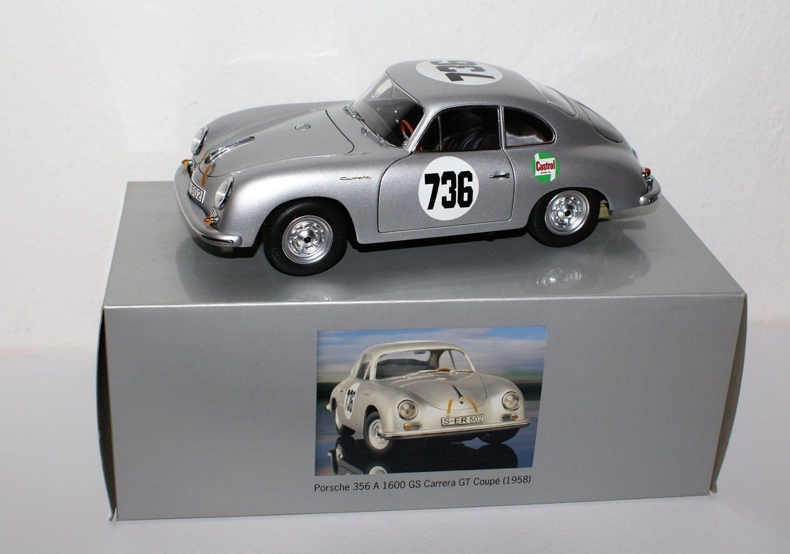 Schuco 1 18 - Porsche 356a 1600gs carrera gt coupé 1958-versión Dealer