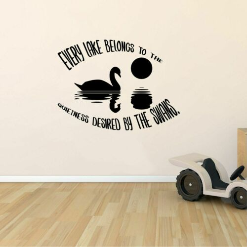 Desired by Swans Lake House Quote Wall Sticker Home Room Vinyl Art Decal Decor
