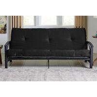 Futon Full Mattress 6 Black Solid Bed Cotton Tufted Cushion