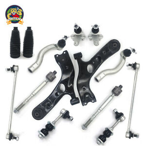 Lower Control Arms + 2 4 Front Rear Sway Bar Links Fit 2006-2014 Toyota RAV4