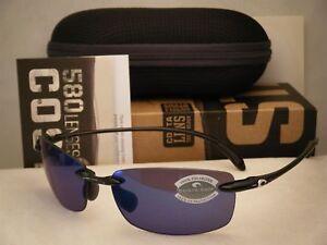 91ad40d2a7 Costa Ballast Black w Blue 580P lens NEW Sunglasses (BA11 OBMP)