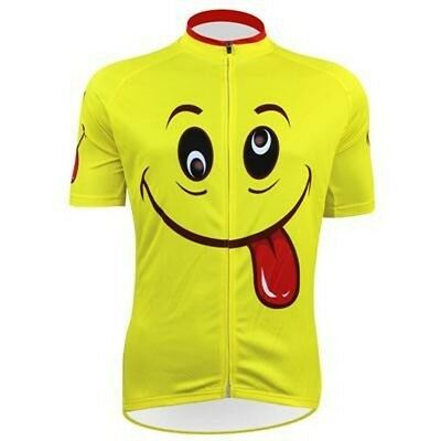 Funny Smiling Face Cycling Jersey Top Breathable Cycling Clothing Bike  Jersey 1b709187e