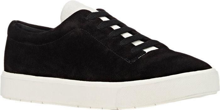 250 NEW VINCE Canyon Black Suede Bone Nubuck Sneakers size US 9.5 Eur 41 UK 7.5