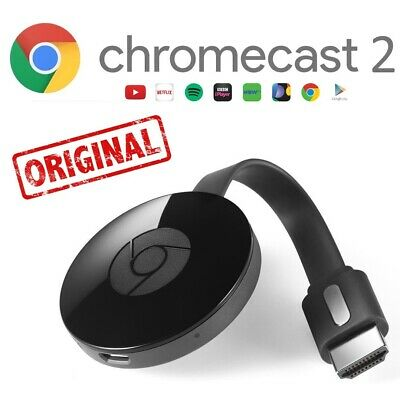 GOOGLE CHROMECAST VIDEO 2 ORIGINALE HDMI STREAMING VIDEO MEDIA PLAYER HOME MINI