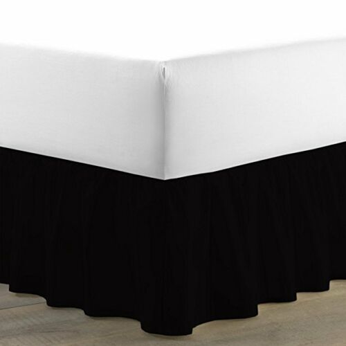 1000TC Egyptian Cotton Ruffle Bed Skirt Drop Length Cal-King Size /& Solid Color
