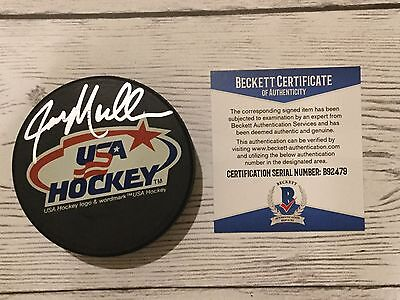 Hockey-nhl Creative Joe Mullen Signed Autographed Team Usa U.s.a Hockey Puck Beckett Bas Coa A Latest Technology
