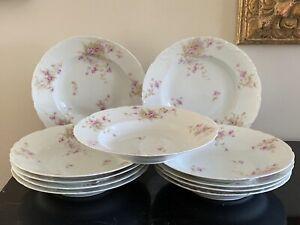 Antique Theodore Haviland Limoges Set of 11 Rim Soup Bowls