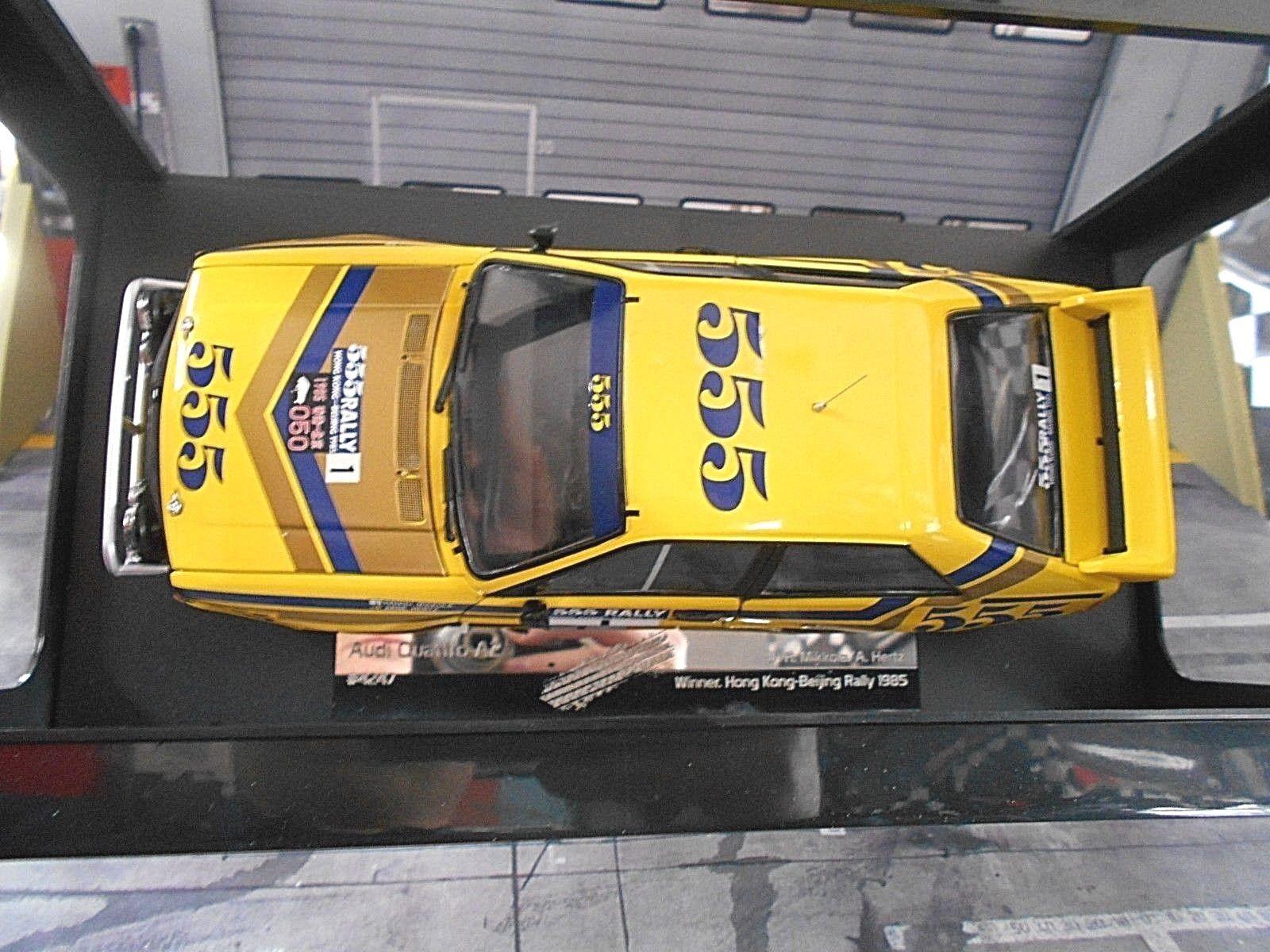 AUDI Quattro Quattro Quattro Rallye Gr.B 555 Hongkong Peking 1985 Mikkola Hertz Sunstar 1 18 74bcb5