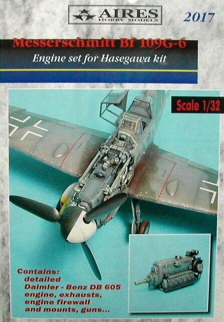 Aires 1  32 Messerschmitt Bf109G -6 - gränssnitt för Hasegawa kit