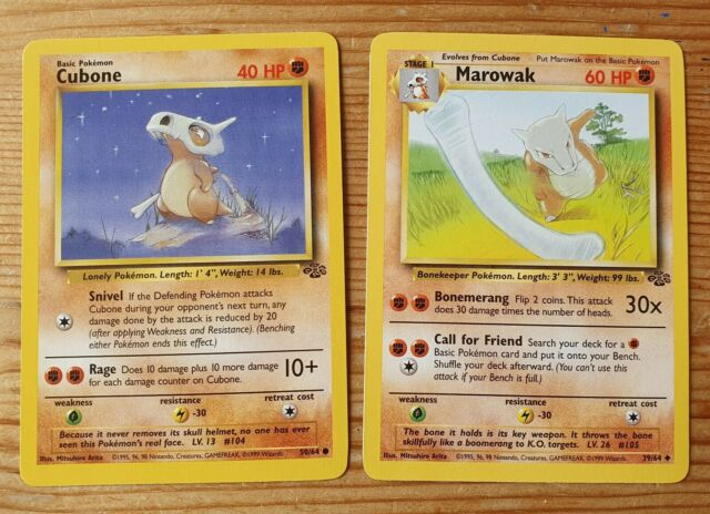 Pokemon Jungle Set UN-COMMON Marowak 39//64 Near Mint To Mint