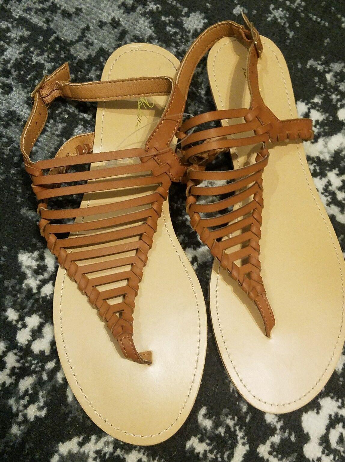 Tory Burch Women's POPPY Jelly T Logo Bow Tie Thong Sandals Orange SIZE 6