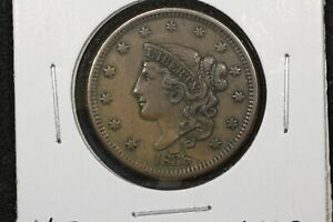 1838-Braided-Hair-Large-Cent-XF