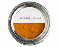 Turmeric 2 Oz In A Magnetic Spice Tin With A Clear Top & Shaker Lid Food Grade