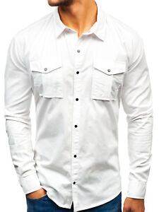 Freizeithemd Hemd Shirt Herrenhemd Slim Fit Casual Herren Mix BOLF Unifarben