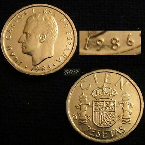 *gutse* J. Carlos I>4, 100 Pesetas 1986, Lis Anv., *busto PequeÑo*, Sin Circular Iv6nbna1-08003520-268061367