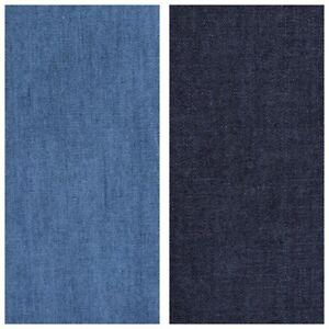 4-oz-SOFT-WASHED-INDIGO-DENIM-100-COTTON-FABRIC-dressmaking-shirts-CHAMBRAY