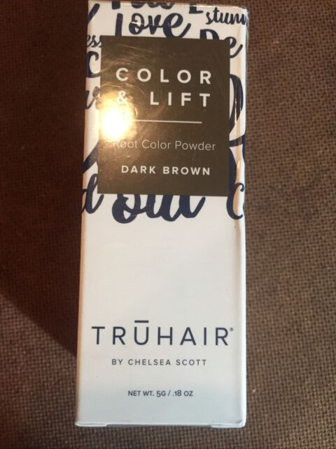 Truhair REGULAR Size Color & Lift Covers Roots, Dark Brown, New Sealed 5g .18 OZ