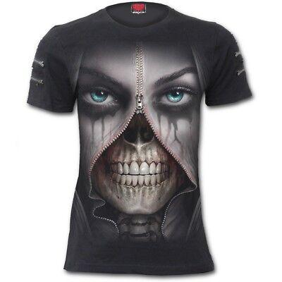 SPIRAL DIRECT WINGED SKELTON T-Shirt//Biker//Grim Reaper//Skull//Demon//Horror//Top