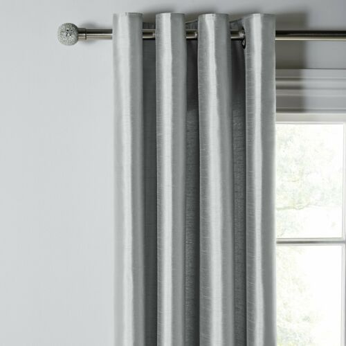 Argos Polyester Home Faux Silk Lined Eyelet Curtains
