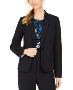 MSRP $129 Calvin Klein Single-Button Blazer Navy Size 10