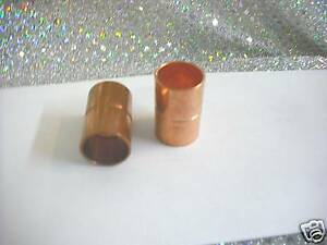 """Tubing SET OF TWO 2 Copper Coupling WITH STOP RING For 5//8/"""" O.D"""