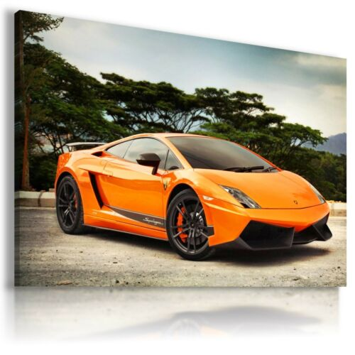 LAMBORGHINI GALLARDO ORANGE Sports Cars Wall Art Canvas Picture  AU449 X MATAGA