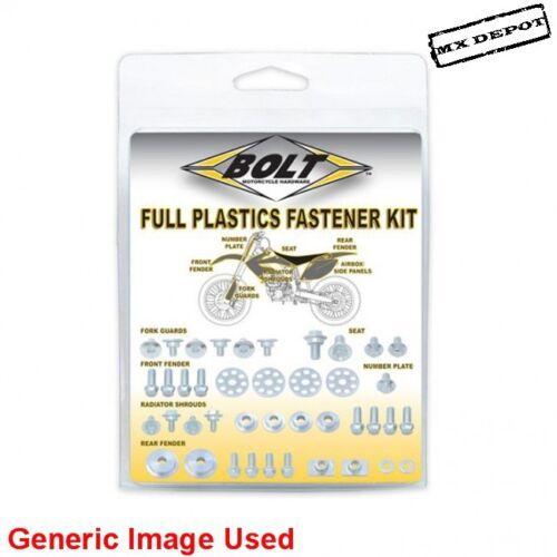 KAWASAKI KX85 2014-2019 FULL PLASTICS FASTENER KIT NUTS /& BOLTS