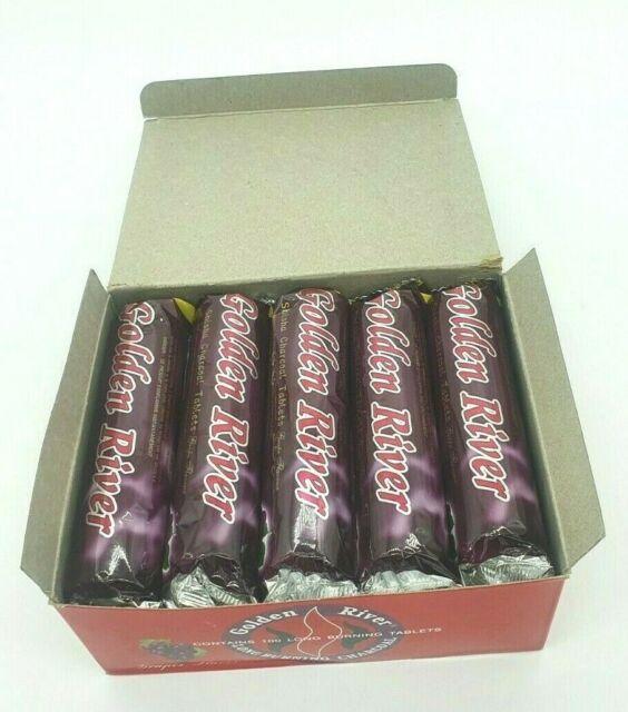 Premium Quick Easy Light Shisha Coal Charcoal Hookah Box of 100 Coals Grape