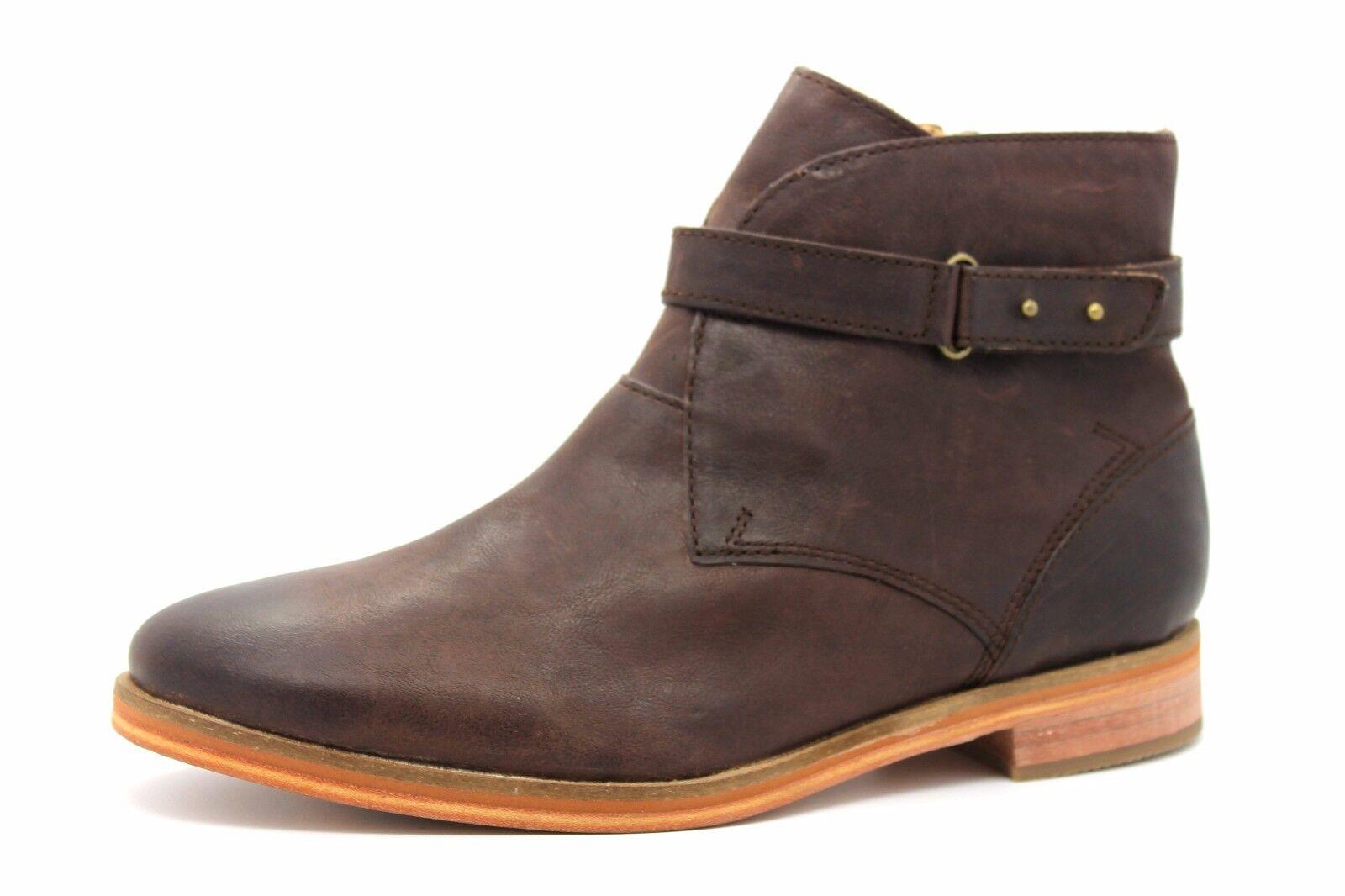 J Shoes Mona Mujer nos 7.5 Botín Marrón Cuero Botín 7.5 Botas nuevas de Java 9f043e