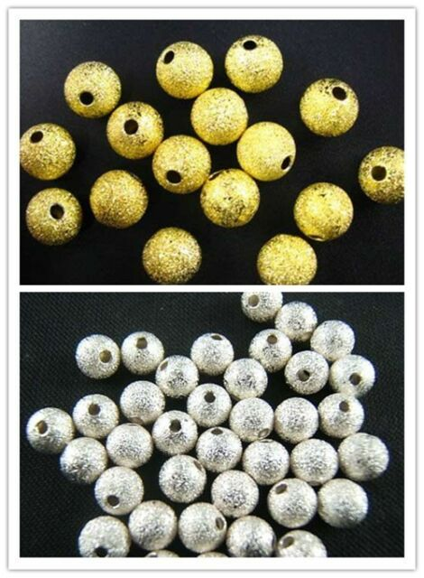 Wholesale Lot Silver /Gold Plated Beads Spacer Bead 3/4/5/6/8/10mm Lot Anitique