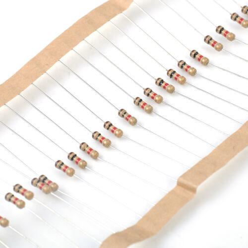 100PCS 1//4W 0.25W 5/% Carbon Film Resistor 1 K OHM Resistance New