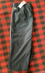 Totalmente Nuevas Lacoste Hombre Talla 4 Atletico Pantalones De Pista De Tenis Azul Medio Ebay