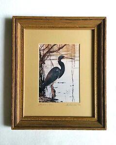 Louisiana-Heron-Art-Photo-La-Freniere-Park-Framed-Matted-amp-Numbered-10-50