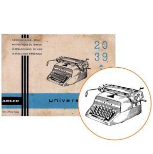 ADLER UNIVERSAL Nos 29 30 40 TYPEWRITER INSTRUCTION MANUAL Antique Vtg Repro