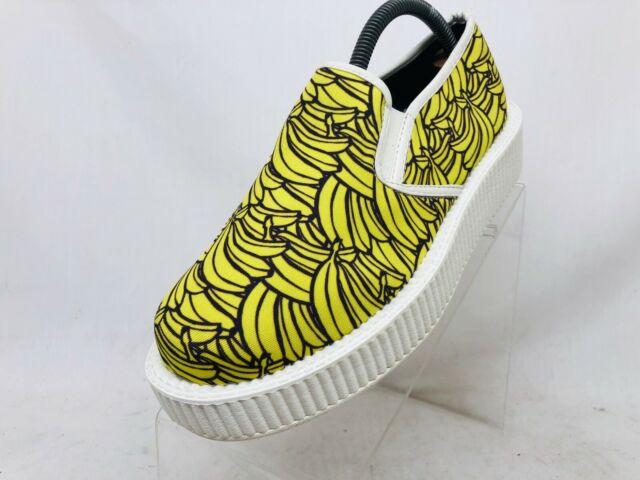 T.U.K  Yellow Textile Banana Creeper Punk Casual Shoes Womens Size US 7 / UK 5