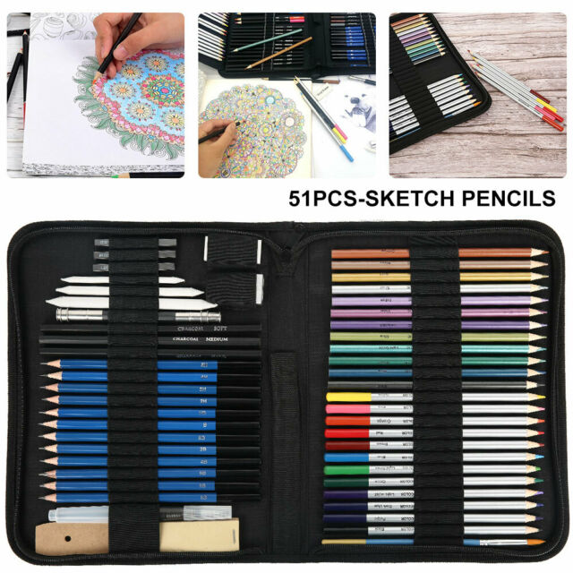 Skizzierstifte Set 35-tlg Zeichenset Bleistifte Zeichnen Skizzieren Zeichenstift