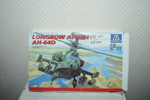 MAQUETTE-HELICOPTERE-LONGBOW-APACH-AH-64D-ITALERI-1-72-MODEL-KIT-NEUF-APACHE