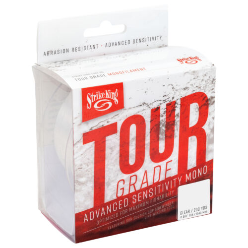 Strike King Tour Grade Monofilament 200 or 600 Yards NEW Sensitive Monofilament