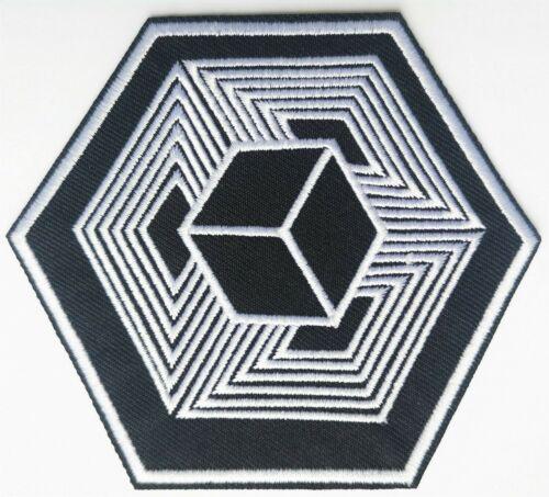Noir Blanc Illusion optique Cube Eternity Brodé Patch fer sur la qualité