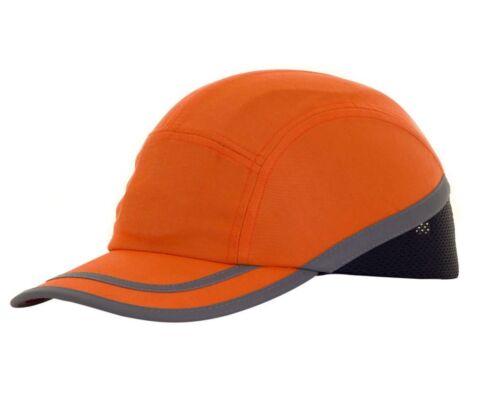 Anstoßkappe Schutzhelm orange Schutzkappe Arbeitskappe EN812 Warnschutzcap Cap