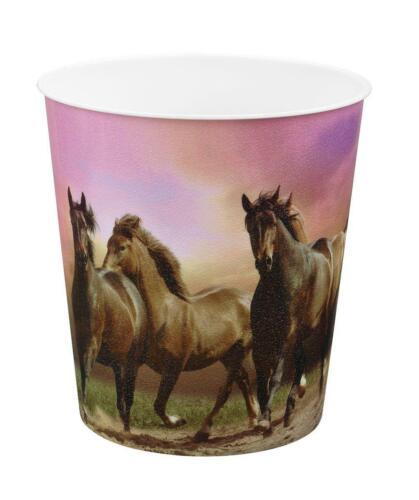 Pferde Idena Papierkorb aus PP 9 Liter