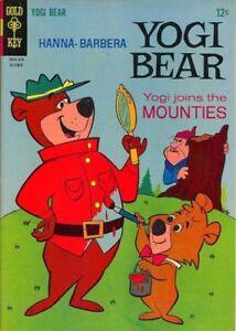 YOGI-BEAR-22-VG-F-HANNA-BARBERA-TV-Cartoon-Gold-Key-Comics-1965