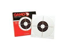 GAMO package of 100 pellet rifle airgun paper targets 5.5 inch bulls eye