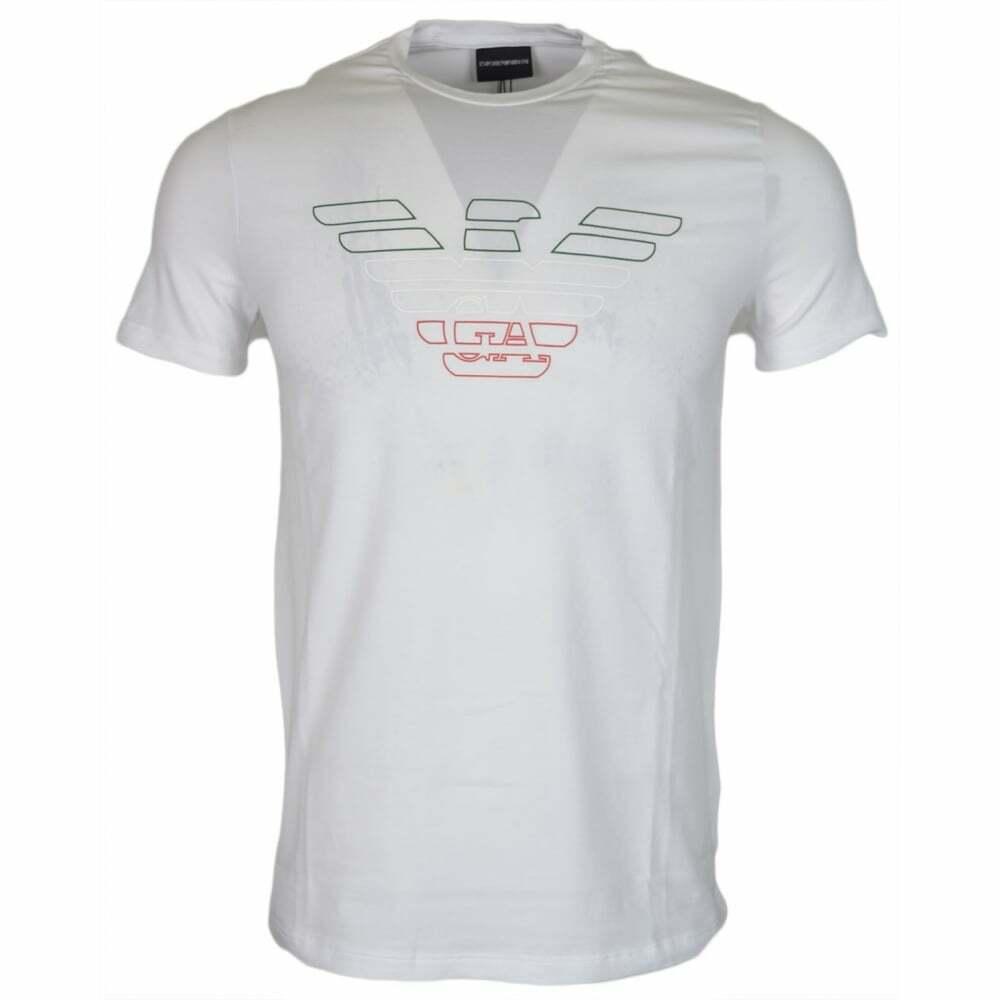 3Z1T90 Cotton Round Neck Printed bianca T-Shirt