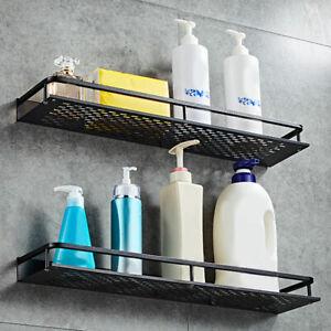 2PCS-Kitchen-Bathroom-Shower-Shelf-Rack-Organizer-Storage-Holder-Wall-Mounted-US
