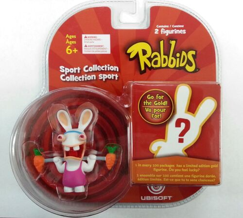 1 Mystery Figure Brand New Weight Lifting Rabbids in Sports TOY-00811