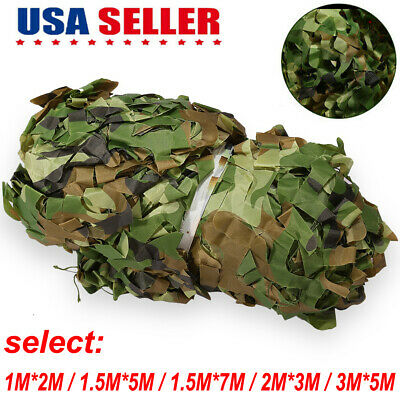 Military Camouflage Netting Hunting Camping Camo Army Net Woodland Leaves Desert