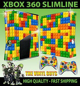 XBOX-360-Fina-Pegatina-Juguete-pared-de-ladrillo-building-block-Imagenes-Piel-amp