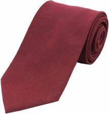 Copper David Van Hagen Mens Plain Satin Silk Tie